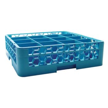 67141 - Carlisle - RG16-114 - 16 Compartment OptiClean™ Glass Rack and Extender Product Image