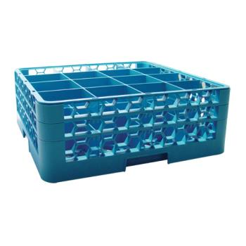 67142 - Carlisle - RG16-214 - 16 Compartment OptiClean™ Glass Rack and Extenders Product Image