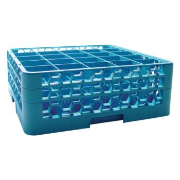 67146 - Carlisle - RG25-214 - 25 Compartment OptiClean™ Glass Rack with 2 Extenders Product Image