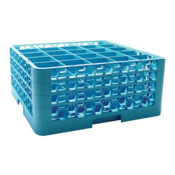 67147 - Carlisle - RG25-314 - 25 Compartment OptiClean™ Glass Rack with 3 Extenders Product Image