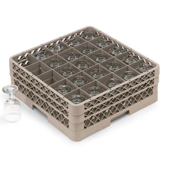 VOLTR6BBB - Vollrath - TR6BBB - 25 Compartment Traex® Glass Rack Product Image