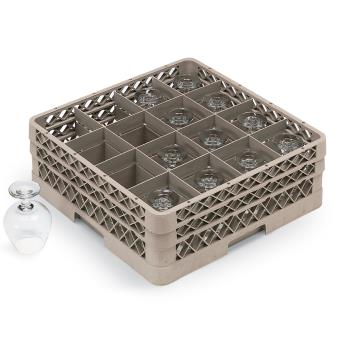 VOLTR8DDDD - Vollrath - TR8DDDD - 16 Compartment Traex® Glass Rack Product Image