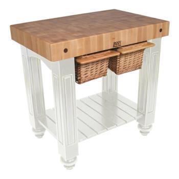 Kitchen Work Table Butcher Block : John Boos - CU-GB4824-AL - 48