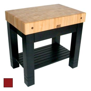 "JHBHMST36245BN - John Boos - HMST36245-BN - 36"" Barn Red Maple Homestead Block Product Image"
