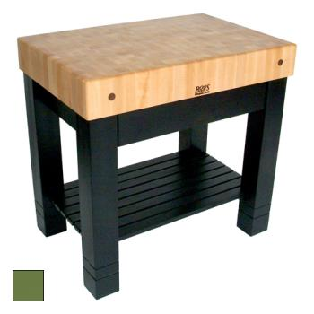 "JHBHMST36245BS - John Boos - HMST36245-BS - 36"" Basil Green Maple Homestead Block Product Image"