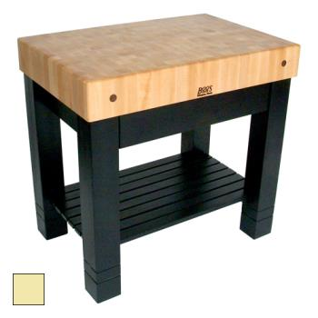 "JHBHMST36245BY - John Boos - HMST36245-BY - 36"" Buttercup Yellow Maple Homestead Block Product Image"