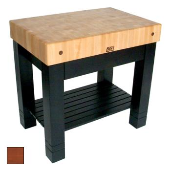 "JHBHMST36245CR - John Boos - HMST36245-CR - 36"" Cherry Stain Maple Homestead Block Product Image"