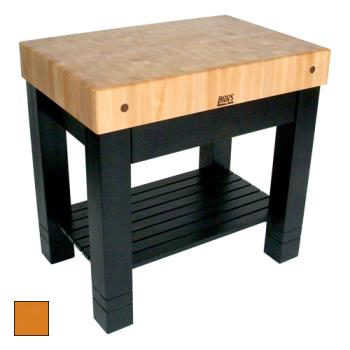 "JHBHMST36245TG - John Boos - HMST36245-TG - 36"" Tangerine Maple Homestead Block Product Image"