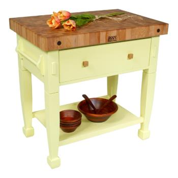 "JHBJASMN36243DSBY - John Boos - JASMN36243-D-S-BY - 36"" Buttercup Jasmine Maple Table  Product Image"
