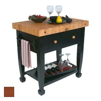 "JHBJASMN36243DSCR - John Boos - JASMN36243-D-S-CR - 36"" Cherry Stain Jasmine Maple Table  Product Image"