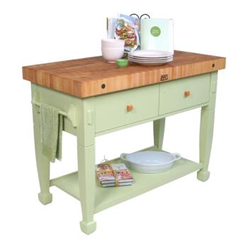 "JHBJASMN482432DSS - John Boos - JASMN48243-2D-S-S - 48"" Sage Jasmine Maple Table Product Image"