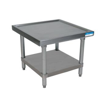 BKRMST2424SS - BK Resources - MST-2424SS - 24 in Square 2-Tier S/S Machine Stand Product Image