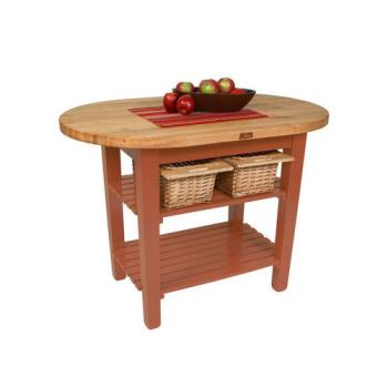 JHBCELIP6030175CR - John Boos & Co. - C-ELIP6030175-CR - 60 in Cherry Stain Eliptical Table Product Image