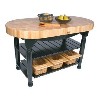 "JHBCUHAR60BK - John Boos - CU-HAR60-BK - 60"" Black Harvest Table Product Image"
