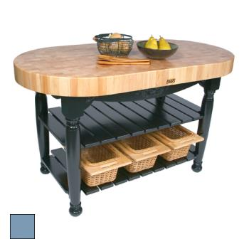 "JHBCUHAR60SB - John Boos - CU-HAR60-SB - 60"" Sport Blue Harvest Table Product Image"