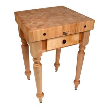 "JHBCUCR04 - John Boos - CUCR04 - 30"" Maple Rustica Table Product Image"