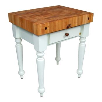 "JHBCUCR04AL - John Boos - CUCR04-AL - 30"" Alabaster Maple Rustica Table Product Image"