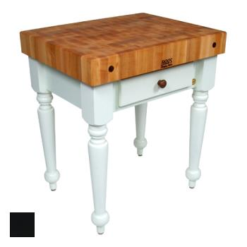 "JHBCUCR04BK - John Boos - CUCR04-BK - 30"" Black Maple Rustica Table Product Image"