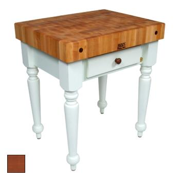 "JHBCUCR04CR - John Boos - CUCR04-CR - 30"" Cherry Stain Maple Rustica Table Product Image"