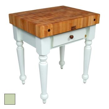 "JHBCUCR04S - John Boos - CUCR04-S - 30"" Sage Green Maple Rustica Table Product Image"