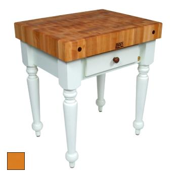 "JHBCUCR04TG - John Boos - CUCR04-TG - 30"" Tangerine Maple Rustica Table Product Image"