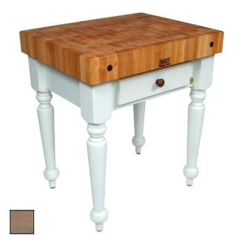 "JHBCUCR04UG - John Boos - CUCR04-UG - 30"" Gray Maple Rustica Table Product Image"