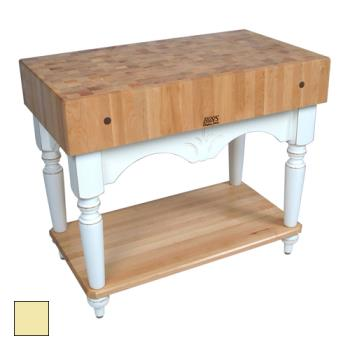 "JHBPVCA4224BY - John Boos - PV-CA-4224-BY - 42"" Buttercup Yellow Calais Table  Product Image"