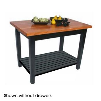 "JHBRNC4824DS - John Boos - RN-C4824-D-S - 48"" x 24"" Le Classique Table w/ Drawer & Shelf Product Image"