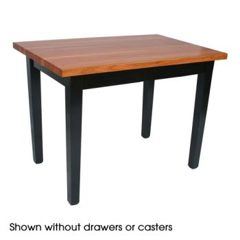 "JHBRNC6030CD - John Boos - RN-C6030C-D - 60"" x 30"" Le Classique Table w/ Drawer & Casters Product Image"