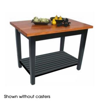 "JHBRNC6030CS - John Boos - RN-C6030C-S - 60"" x 30"" Le Classique Table w/ Shelf & Casters Product Image"