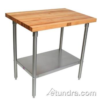 "JHBSNS17 - John Boos - SNS17 - 36"" x 96"" Maple Top Work Table Product Image"