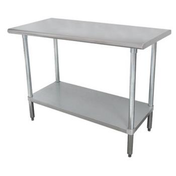 ADVMS249 - Advance Tabco - MS-249 - 108 in x 24 in Stainless Steel Work Table w/ Stainless Steel Undershelf Product Image