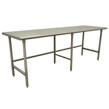 ADVTMS2410 - Advance Tabco - TMS-2410 - 120 in x 24 in Stainless Steel Work Table w/ Open Base Product Image