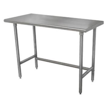ADVTMSLAG308X - Advance Tabco - TMSLAG-308-X - 96 in x 30 in Stainless Steel Work Table w/ Open Base Product Image