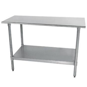 ADVTT244X - Advance Tabco - TT-244-X - 48 in x 24 in Stainless Steel Work Table w/ Galvanized Undershelf Product Image