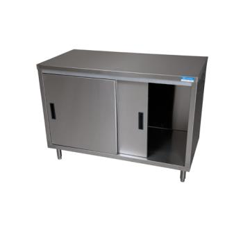 99246 - BK Resources - BKDC-2472S - 60 in x 24 in S/S Work Table w/ Sliding Doors Product Image