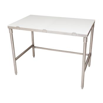 BKRPTF7230 - BK Resources - PTF-7230 - 72 in x 30 in S/S Poly Top Work Table Product Image
