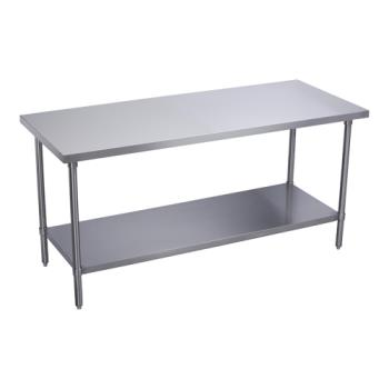 ELKWT24S120STGX - Elkay SSP - WT24S120-STGX - 24 x 120 in Deluxe Work Table With Galvanized Undershelf Product Image