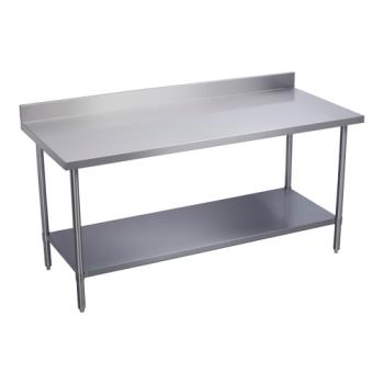 ELKWT24S48BSX - Elkay SSP - WT24S48-BSX - 24 x 48 in Deluxe Work Table With Backsplash And Stainless Undershelf Product Image