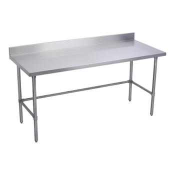 ELKWT30X84BSX - Elkay SSP - WT30X84-BSX - 30 x 84 in Deluxe Worktable With Stainless Bracing And Backsplash Product Image