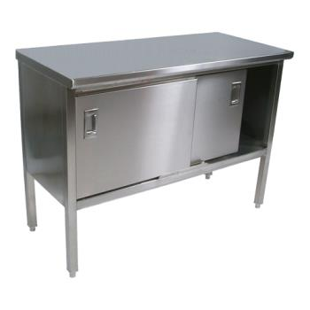 "JHBCU16019 - John Boos - CU160-19 - Cucina Americana® 96"" x 30"" Marcella Flat Top Work Table Product Image"