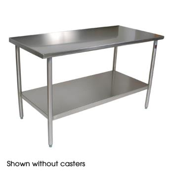 "JHBCUCTA03C - John Boos - CUCTA03C - Cucina Americana® 60"" x 24"" Tavalo Flat Top Work Table w/ Casters Product Image"