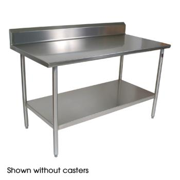 JHBCUCTA20C - John Boos - CUCTA20C - Cucina Americana® 60 in x 24 in Riser Top Work Table  Product Image