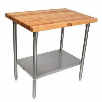"JHBSNS15 - John Boos - SNS15 - 36"" x 60"" Maple Top Work Table Product Image"