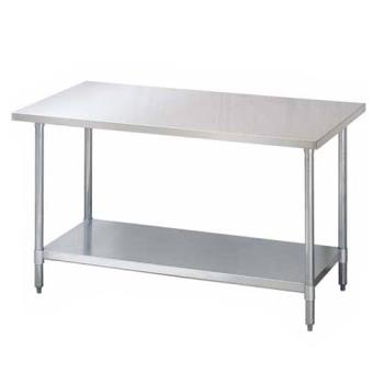 95309 - Turbo Air - TSW-2460E - 24 in x 60 in Stainless Steel Work Table w/ Galvanized Undershelf Product Image