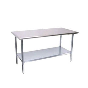 TURTSW2496S - Turbo Air - TSW-2496S - 24 in x 96 in Stainless Steel Work Table w/ Galvanized Undershelf Product Image