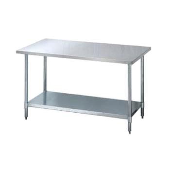 95306 - Turbo Air - TSW-3072E - 30 in x 72 in Stainless Steel Work Table w/ Galvanized Undershelf Product Image