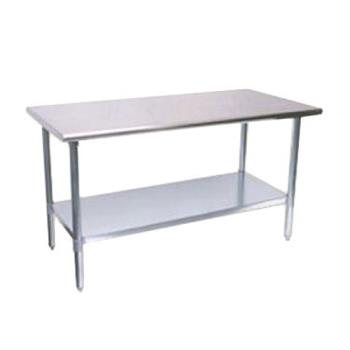 TURTSW3096E - Turbo Air - TSW-3096E - 30 in x 96 in Stainless Steel Work Table w/ Galvanized Undershelf Product Image