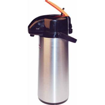 WINAPSK730DC - Winco - APSK-730DC - 3 L Stainless Steel Lined Decaf Airpot with Lever Top Product Image