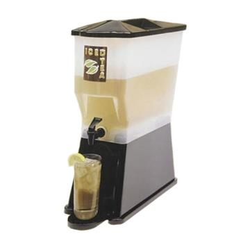 TABH353DP - Tablecraft - H353DP - 3 Gal Black Slimline Beverage Dispenser Product Image